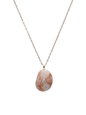 Rosa Stone And Diamond Necklace