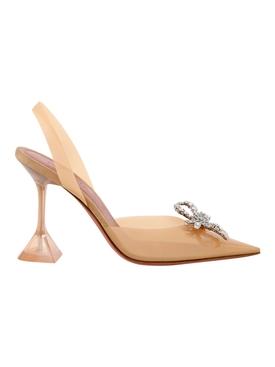 Rosie Glass Slingback Heels, Matte Nude Transparent Matte Nude