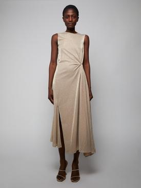 Sand Beige Midi Dress