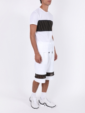 Vibe geometric low-top sneakers WHITE BLACK