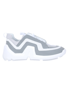 Vibe geometric low-top sneakers SILVER/WHITE