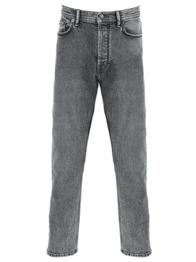 Grey Stone Wash Denim Jeans