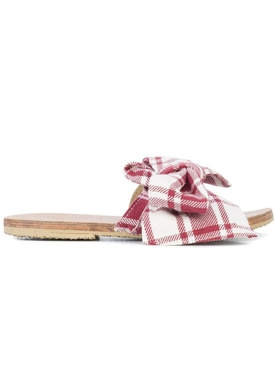 Burkina Striped Sandal RED/ WHITE
