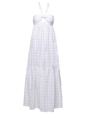 BASILIA HALTER MAXI DRESS WHITE