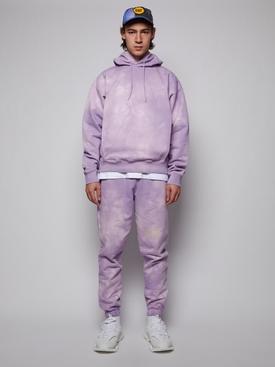 Mauve Tie Dye Slim Track Pant
