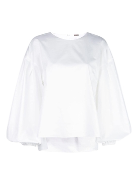 Adam Lippes - White Shirred Back Blouse - Women