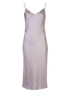 Adam Lippes - Silk Purple Shift Midi Dress - Women