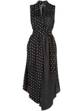 Adam Lippes - Black And White Polka Dot Print Dress - Women
