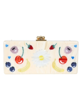 Raspberry Medium Slim Clutch