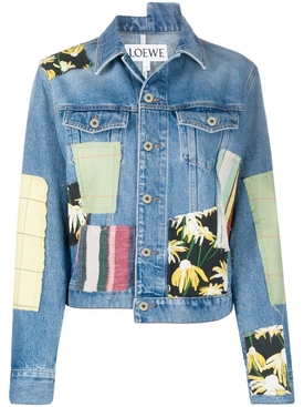 Loewe - Multicolored Patchwork Denim Jacket - Women