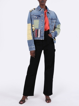 Multicolored Patchwork Denim Jacket