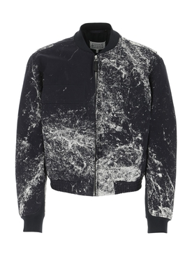 Navy Splatter Print Jacket