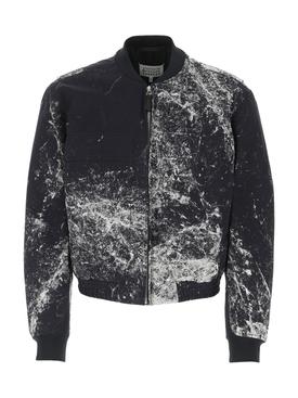 Navy Splatter Print Jacket