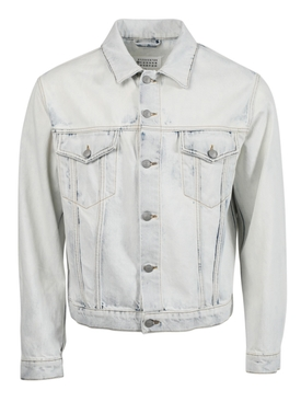 Bleach-wash denim jacket