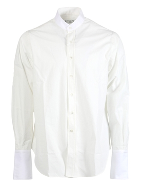 Ivory mandarin collar shirt