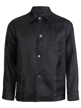 Medallion print pajama shirt NAVY