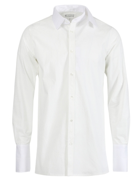 White Double Collar Shirt