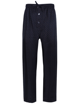 Silk three-button pajama pants NAVY