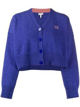 Cropped Wool Cardigan
