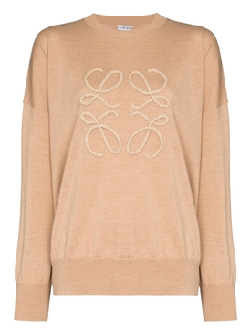 Beige anagram sweater