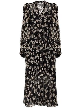 Black and ivory silk dress