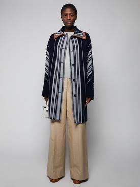 Striped Blanket Coat