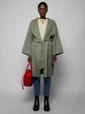 Sage green belted coat