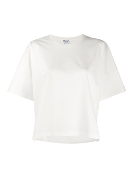 White Anagram Cropped T-shirt