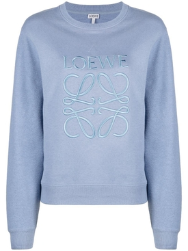 Dusty Blue Anagram Pullover Sweatshirt