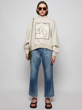 Cropped Patch Sweatshirt Ivory