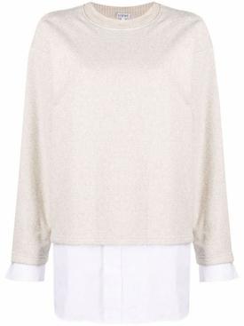 combination sweater shirt neutral