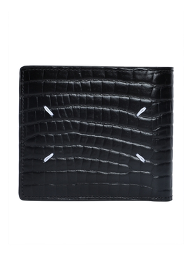 Black croc-embossed wallet