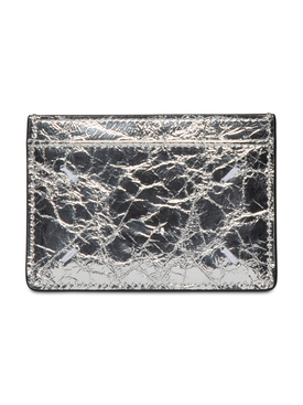 Silver-tone card holder