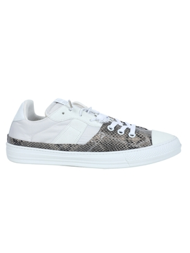 White snake print evolution sneakers
