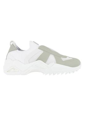 White & Beige Retro-Fit Replica Sneakers