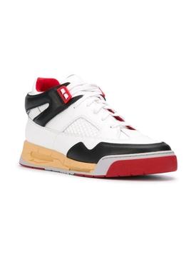 Multi-panel High-Top Sneaker