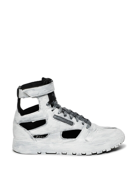 X Reebok T2 Classic Gladiator High-top Sneaker Hand Painted White