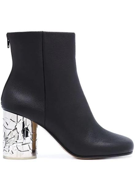 Zanzara Mirror Block Heel Boots