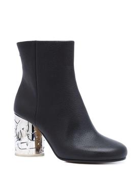 Mirror Block Heel Boots