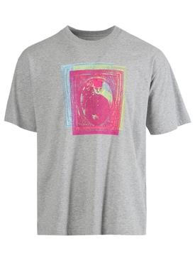Classic triple print t-shirt GREY MÉLANGE