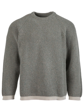 Light grey knit pullover sweater