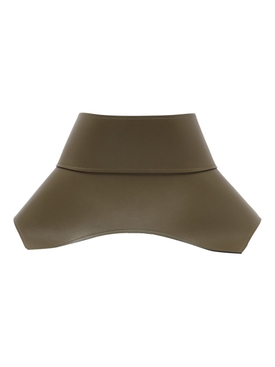 obi leather corset belt KHAKI GREEN/BLACK