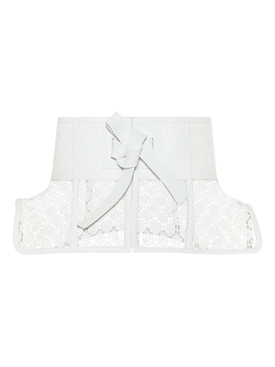 Obi Lace Belt WHITE