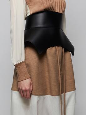 Leather Obi Corset Belt BLACK