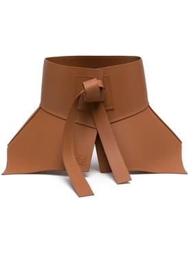 Leather Obi Corset Belt TAN