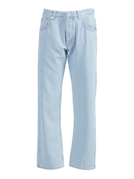 Light Blue Embroidered Denim Jeans