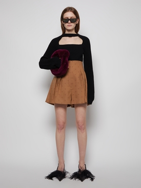 CUT OUT CROPPED SWEATER Black