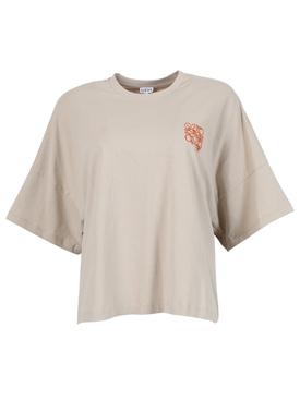 Cropped Oversized Anagram T-shirt, Hemp