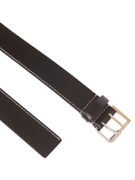 Black perforated leather belt