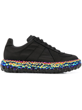 BLACK BUBBLE IRIDESCENT SNEAKERS